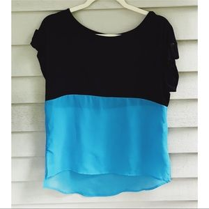 Color Block Pocket Blouse Size Small